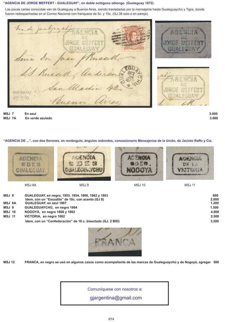Lot 1 - Argentina books -  Guillermo Jalil - Philatino Auction # 2034 ARGENTINA: small but very attractive auction