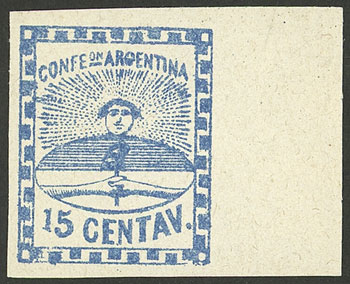 Lot 21 - Argentina confederation -  Guillermo Jalil - Philatino Auction # 2034 ARGENTINA: small but very attractive auction