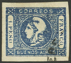 Lot 3 - Argentina cabecitas -  Guillermo Jalil - Philatino Auction # 2034 ARGENTINA: small but very attractive auction