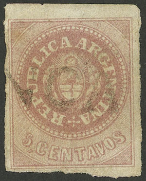 Lot 25 - Argentina escuditos -  Guillermo Jalil - Philatino Auction # 2034 ARGENTINA: small but very attractive auction