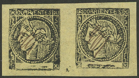 Lot 12 - Argentina corrientes -  Guillermo Jalil - Philatino Auction # 2034 ARGENTINA: small but very attractive auction