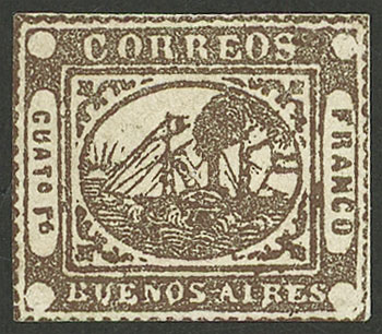 Lot 2 - Argentina barquitos -  Guillermo Jalil - Philatino Auction # 2034 ARGENTINA: small but very attractive auction