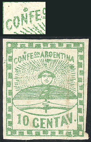 Lot 19 - Argentina confederation -  Guillermo Jalil - Philatino Auction # 2034 ARGENTINA: small but very attractive auction