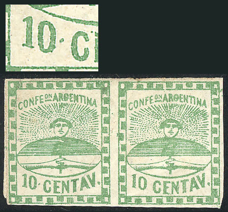 Lot 20 - Argentina confederation -  Guillermo Jalil - Philatino Auction # 2034 ARGENTINA: small but very attractive auction