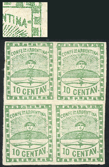 Lot 18 - Argentina confederation -  Guillermo Jalil - Philatino Auction # 2034 ARGENTINA: small but very attractive auction