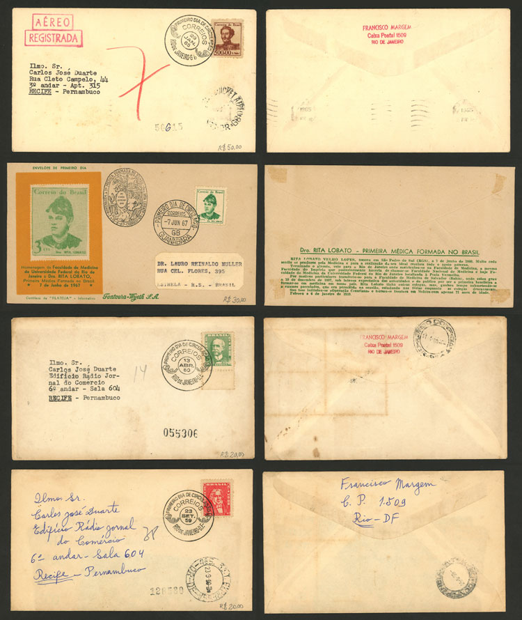 Lot 505 - brazil postal history -  Guillermo Jalil - Philatino Auction # 2035 WORLDWIDE + ARGENTINA: Great August sale!