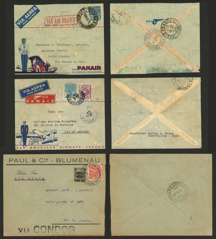 Lot 406 - brazil postal history -  Guillermo Jalil - Philatino Auction # 2035 WORLDWIDE + ARGENTINA: Great August sale!