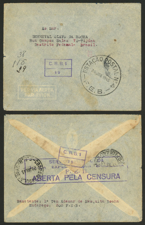 Lot 493 - brazil postal history -  Guillermo Jalil - Philatino Auction # 2035 WORLDWIDE + ARGENTINA: Great August sale!