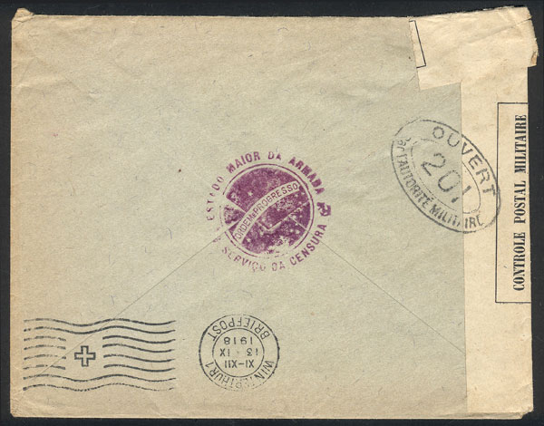 Lot 381 - brazil postal history -  Guillermo Jalil - Philatino Auction # 2035 WORLDWIDE + ARGENTINA: Great August sale!