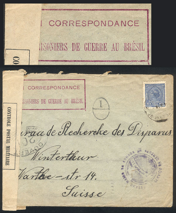Lot 383 - brazil postal history -  Guillermo Jalil - Philatino Auction # 2035 WORLDWIDE + ARGENTINA: Great August sale!