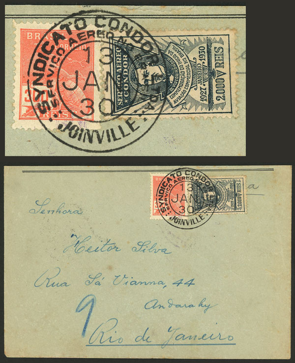 Lot 408 - brazil postal history -  Guillermo Jalil - Philatino Auction # 2035 WORLDWIDE + ARGENTINA: Great August sale!