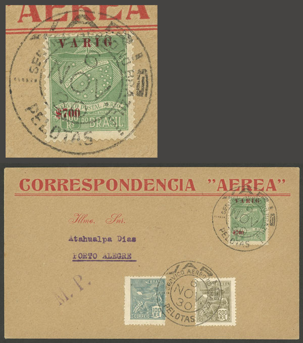 Lot 417 - brazil postal history -  Guillermo Jalil - Philatino Auction # 2035 WORLDWIDE + ARGENTINA: Great August sale!
