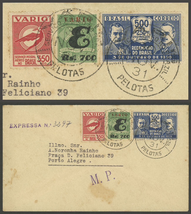 Lot 425 - brazil postal history -  Guillermo Jalil - Philatino Auction # 2035 WORLDWIDE + ARGENTINA: Great August sale!