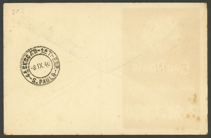Lot 478 - brazil postal history -  Guillermo Jalil - Philatino Auction # 2035 WORLDWIDE + ARGENTINA: Great August sale!