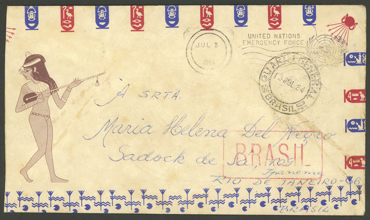 Lot 511 - brazil postal history -  Guillermo Jalil - Philatino Auction # 2035 WORLDWIDE + ARGENTINA: Great August sale!