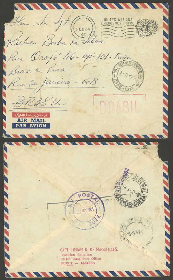 Lot 507 - brazil postal history -  Guillermo Jalil - Philatino Auction # 2035 WORLDWIDE + ARGENTINA: Great August sale!