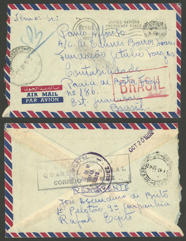 Lot 509 - brazil postal history -  Guillermo Jalil - Philatino Auction # 2035 WORLDWIDE + ARGENTINA: Great August sale!