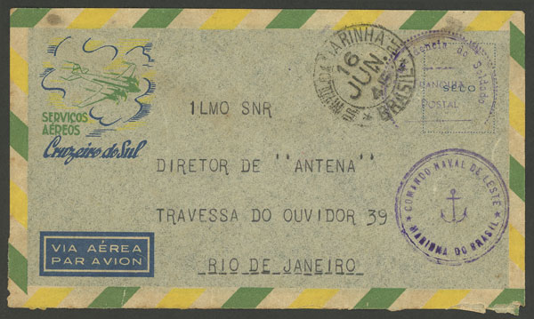 Lot 494 - brazil postal history -  Guillermo Jalil - Philatino Auction # 2035 WORLDWIDE + ARGENTINA: Great August sale!
