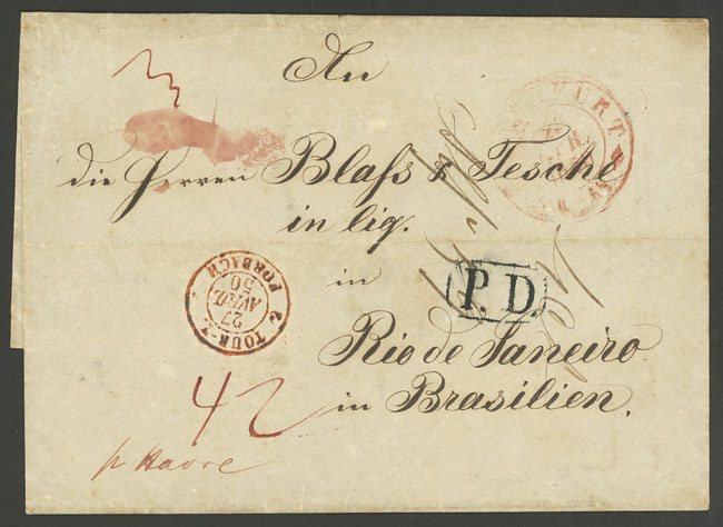 Lot 15 - germany postal history -  Guillermo Jalil - Philatino Auction # 2035 WORLDWIDE + ARGENTINA: Great August sale!