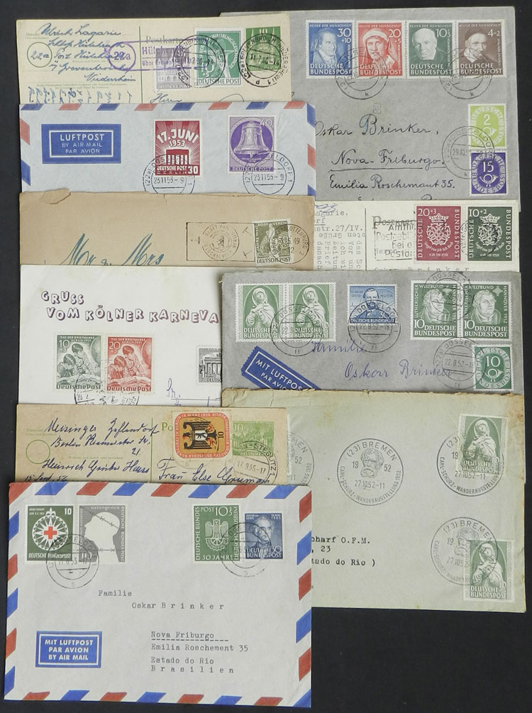 Lot 68 - west germany postal history -  Guillermo Jalil - Philatino Auction # 2035 WORLDWIDE + ARGENTINA: Great August sale!