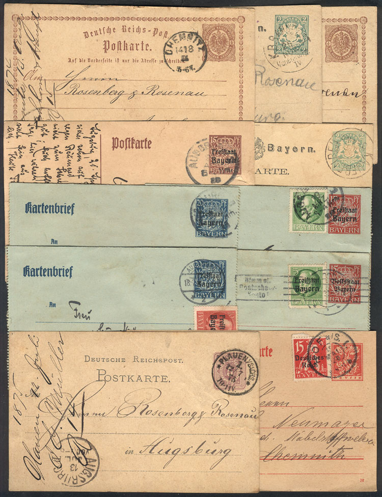 Lot 18 - germany postal history -  Guillermo Jalil - Philatino Auction # 2035 WORLDWIDE + ARGENTINA: Great August sale!