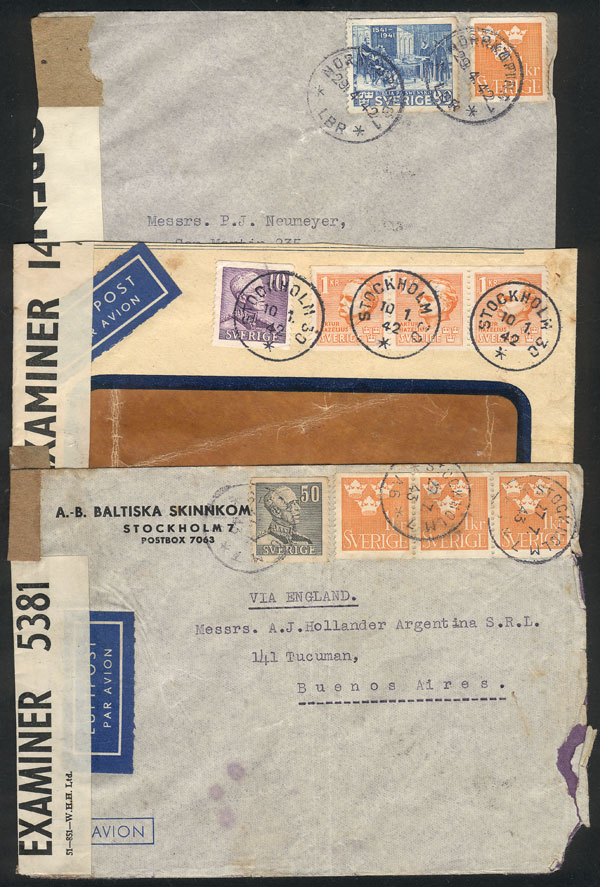 Lot 1167 - Sweden postal history -  Guillermo Jalil - Philatino Auction # 2035 WORLDWIDE + ARGENTINA: Great August sale!