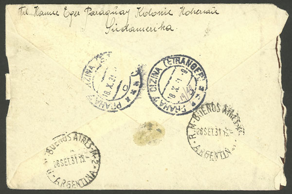 Lot 1048 - Paraguay postal history -  Guillermo Jalil - Philatino Auction # 2035 WORLDWIDE + ARGENTINA: Great August sale!
