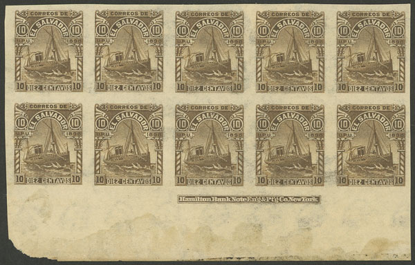 Lot 1144 - el salvador general issues -  Guillermo Jalil - Philatino Auction # 2035 WORLDWIDE + ARGENTINA: Great August sale!