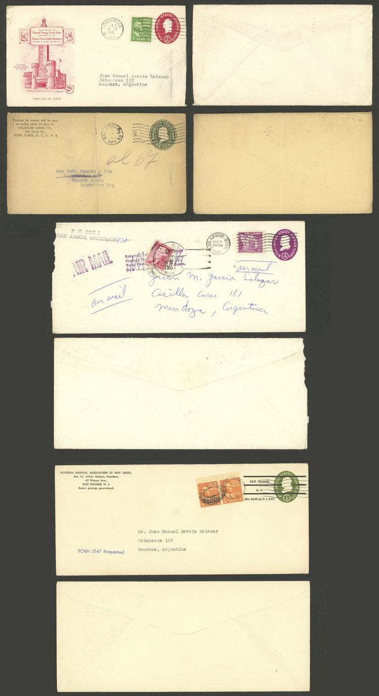 Lot 719 - united states postal history -  Guillermo Jalil - Philatino Auction # 2035 WORLDWIDE + ARGENTINA: Great August sale!