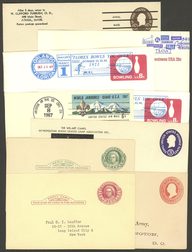 Lot 711 - united states Postal stationery -  Guillermo Jalil - Philatino Auction # 2035 WORLDWIDE + ARGENTINA: Great August sale!