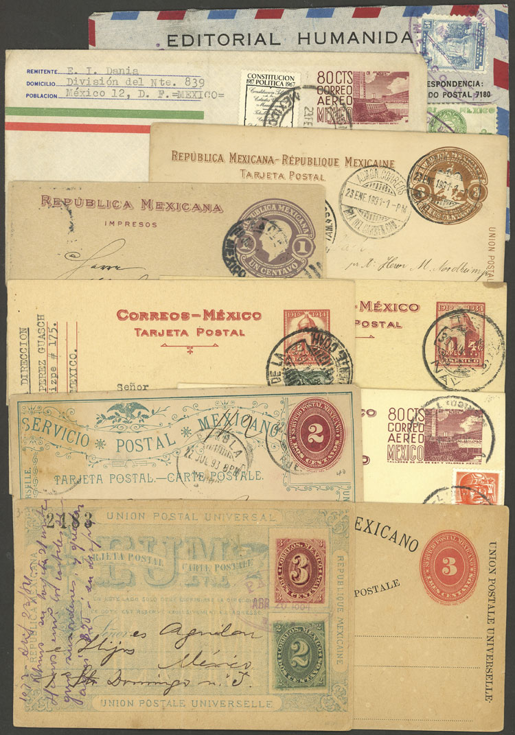 Lot 986 - Mexico Postal stationery -  Guillermo Jalil - Philatino Auction # 2035 WORLDWIDE + ARGENTINA: Great August sale!
