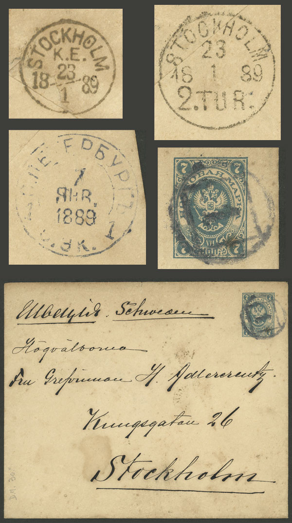 Lot 1128 - Russia postal history -  Guillermo Jalil - Philatino Auction # 2035 WORLDWIDE + ARGENTINA: Great August sale!