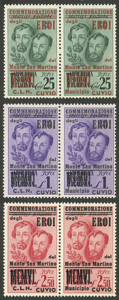 Lot 883 - Italy local stamps -  Guillermo Jalil - Philatino Auction # 2035 WORLDWIDE + ARGENTINA: Great August sale!