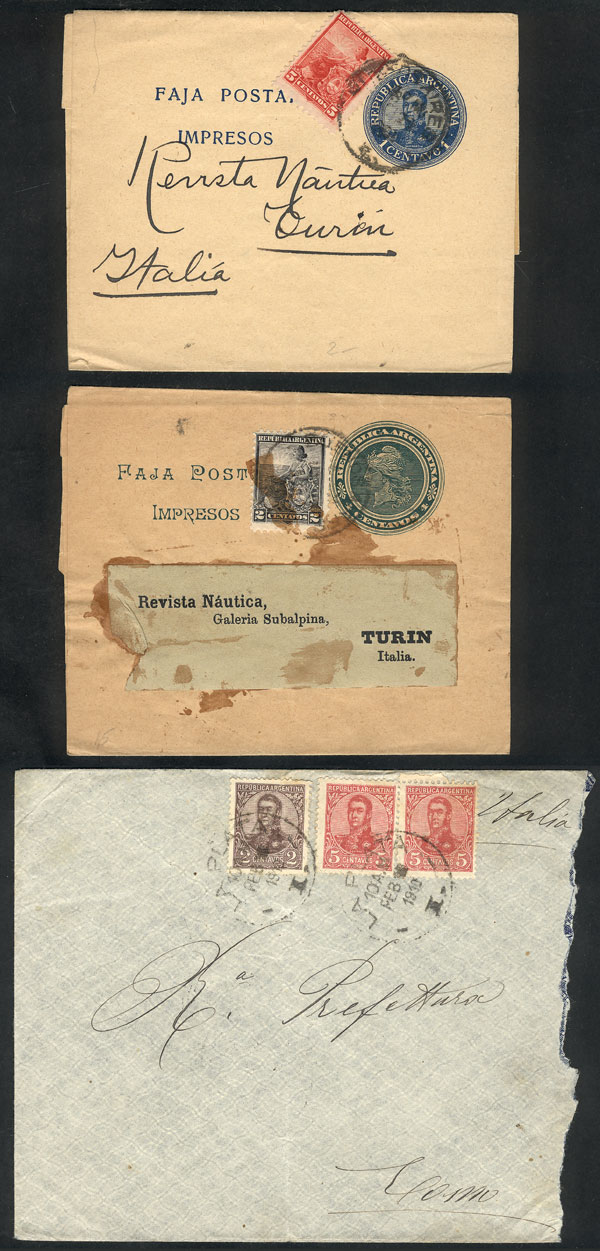 Lot 176 - Argentina postal history -  Guillermo Jalil - Philatino Auction # 2035 WORLDWIDE + ARGENTINA: Great August sale!