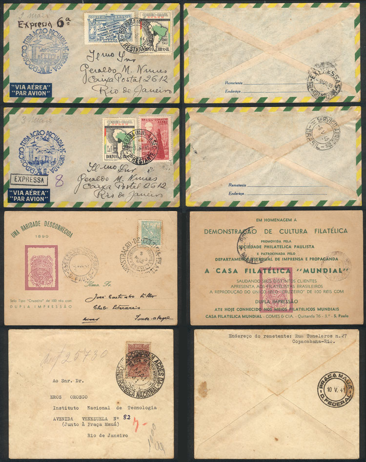 Lot 475 - brazil postal history -  Guillermo Jalil - Philatino Auction # 2035 WORLDWIDE + ARGENTINA: Great August sale!