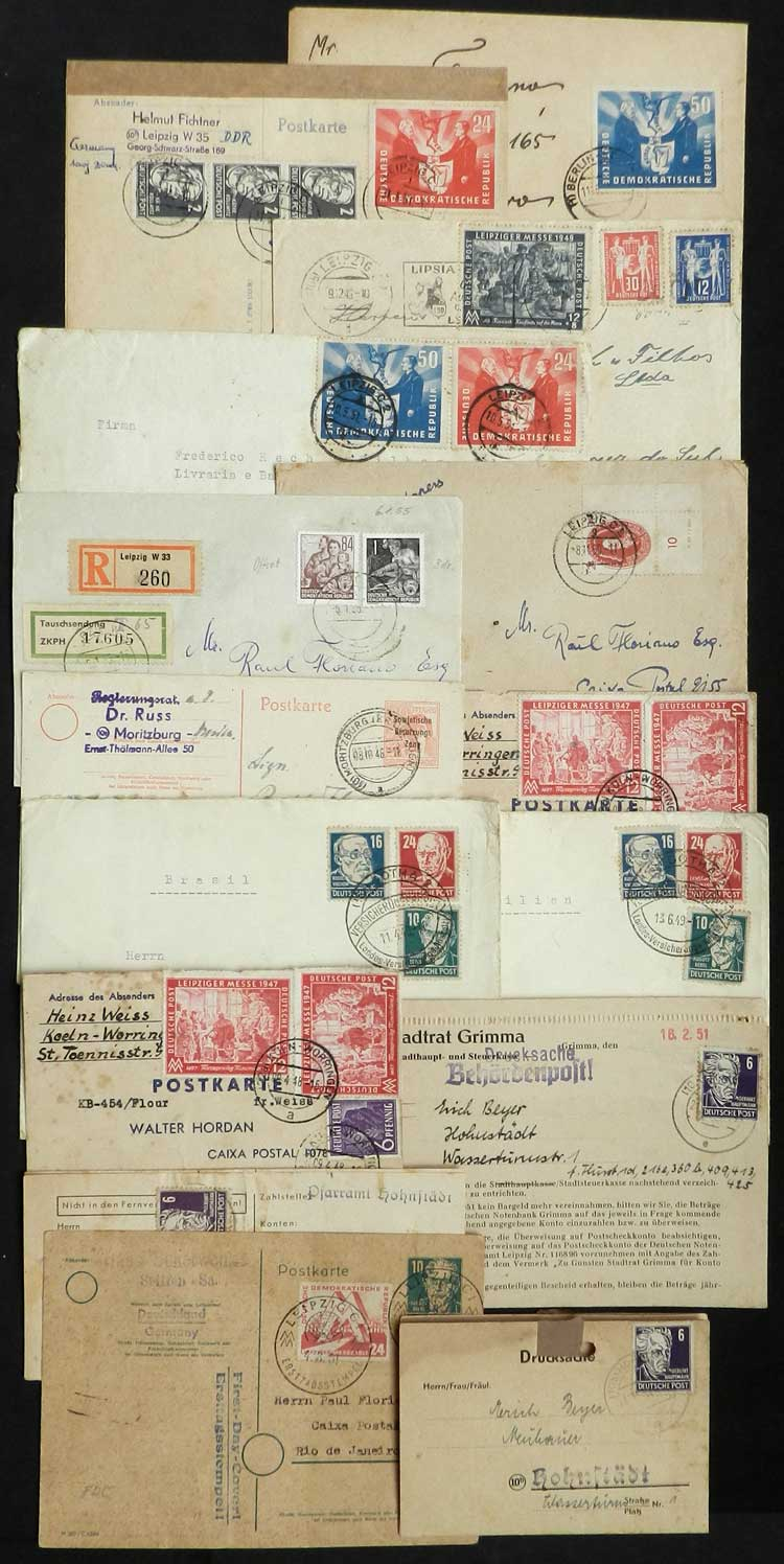 Lot 74 - east germany postal history -  Guillermo Jalil - Philatino Auction # 2035 WORLDWIDE + ARGENTINA: Great August sale!