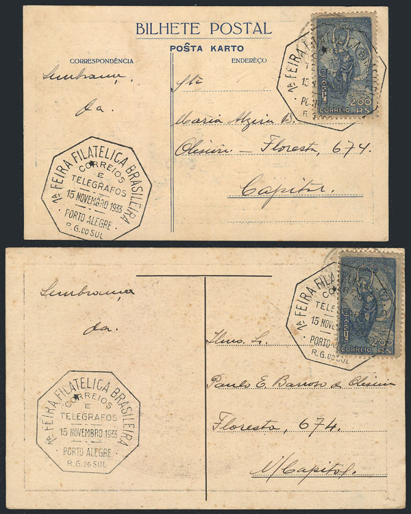Lot 441 - brazil postal history -  Guillermo Jalil - Philatino Auction # 2035 WORLDWIDE + ARGENTINA: Great August sale!
