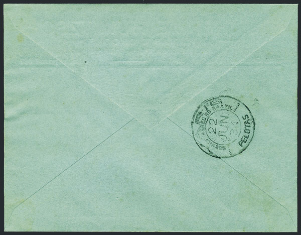 Lot 446 - brazil postal history -  Guillermo Jalil - Philatino Auction # 2035 WORLDWIDE + ARGENTINA: Great August sale!