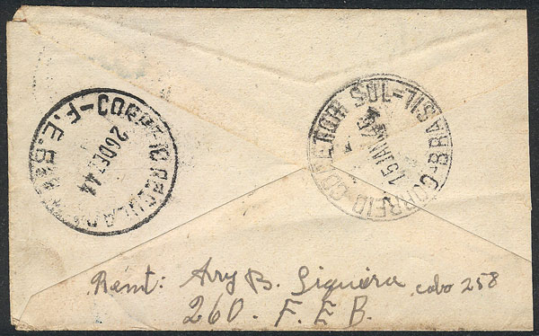 Lot 491 - brazil postal history -  Guillermo Jalil - Philatino Auction # 2035 WORLDWIDE + ARGENTINA: Great August sale!