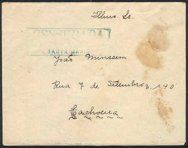 Lot 487 - brazil postal history -  Guillermo Jalil - Philatino Auction # 2035 WORLDWIDE + ARGENTINA: Great August sale!