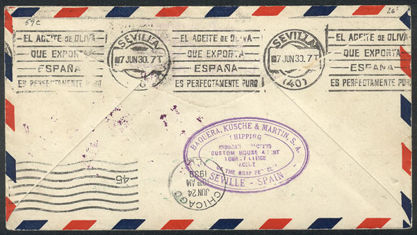 Lot 411 - brazil postal history -  Guillermo Jalil - Philatino Auction # 2035 WORLDWIDE + ARGENTINA: Great August sale!