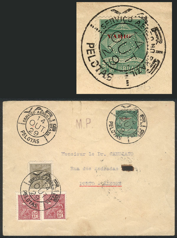 Lot 402 - brazil postal history -  Guillermo Jalil - Philatino Auction # 2035 WORLDWIDE + ARGENTINA: Great August sale!
