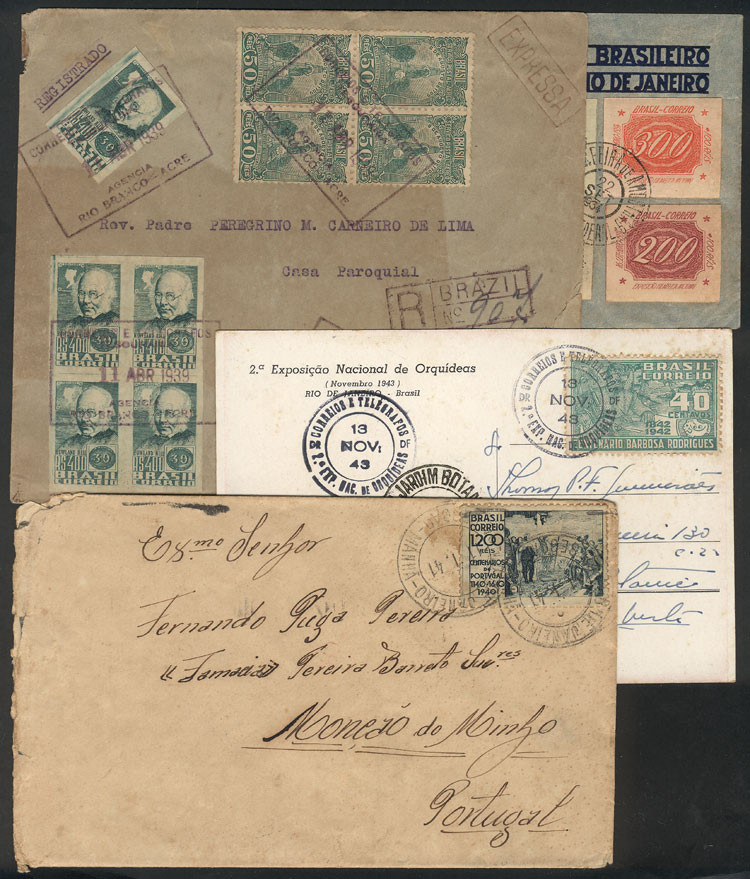 Lot 442 - brazil postal history -  Guillermo Jalil - Philatino Auction # 2035 WORLDWIDE + ARGENTINA: Great August sale!