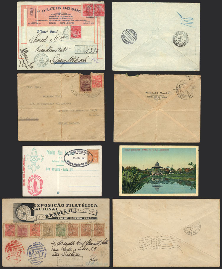 Lot 371 - brazil postal history -  Guillermo Jalil - Philatino Auction # 2035 WORLDWIDE + ARGENTINA: Great August sale!