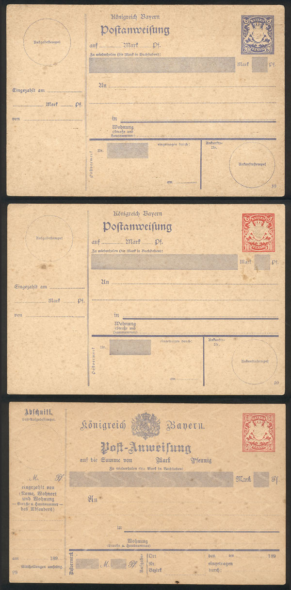 Lot 13 - germany Postal stationery -  Guillermo Jalil - Philatino Auction # 2035 WORLDWIDE + ARGENTINA: Great August sale!
