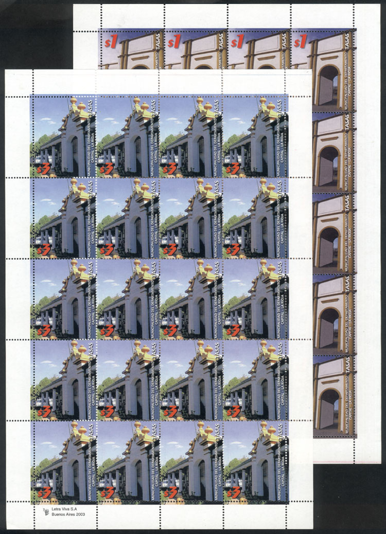 Lot 232 - Argentina revenue stamps -  Guillermo Jalil - Philatino Auction # 2035 WORLDWIDE + ARGENTINA: Great August sale!