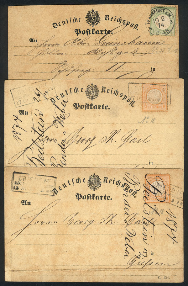 Lot 19 - germany postal history -  Guillermo Jalil - Philatino Auction # 2035 WORLDWIDE + ARGENTINA: Great August sale!