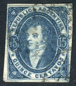 Lot 120 - Argentina rivadavias -  Guillermo Jalil - Philatino Auction # 2037 ARGENTINA: Special September auction