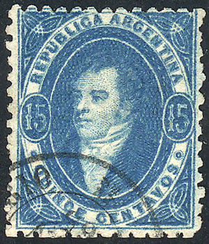 Lot 95 - Argentina rivadavias -  Guillermo Jalil - Philatino Auction # 2037 ARGENTINA: Special September auction