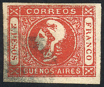 Lot 9 - Argentina cabecitas -  Guillermo Jalil - Philatino Auction # 2037 ARGENTINA: Special September auction